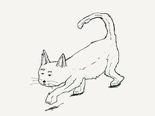 Went to Catford today, there was a big fibreglass cat. Here is a badly drawn cat. Enjoy. #sketch | by Tom Cardo-Moreno