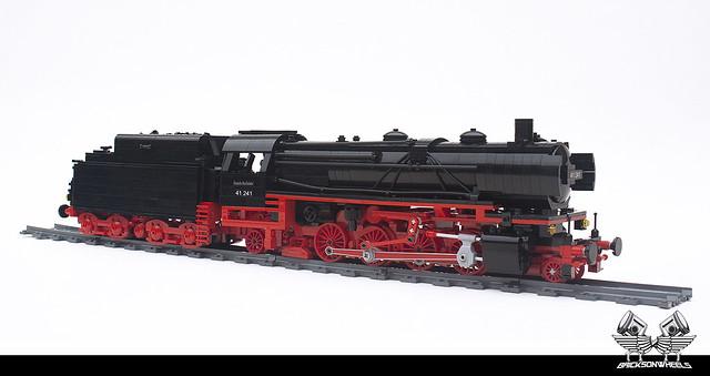 German Baureihe 41-241 Polarstern, in Lego 1:38