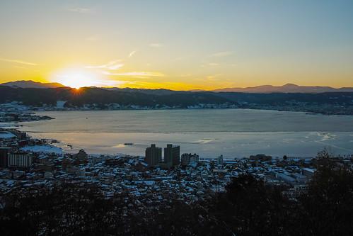 sunset lake landscape evening sigma 日本 夕景 風景 suwa 長野 諏訪湖 foveonx3 19mmf28 dp1quattro