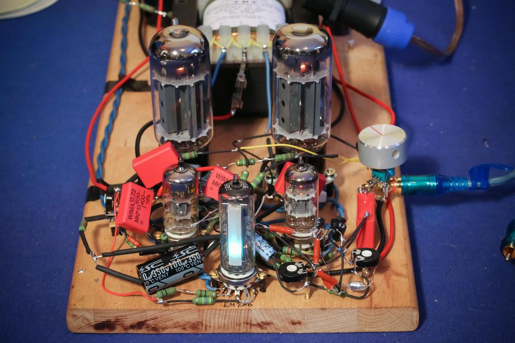 EL34 PP - Bauprojekt - Testaufbau first run