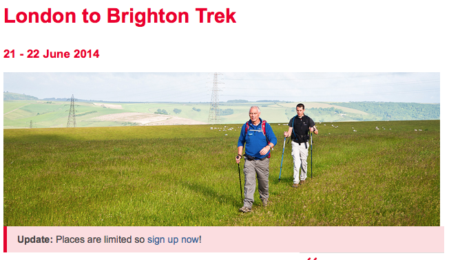 And I would walk 500 miles….for the British Heart Foundation