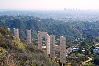 Hollywood Sign, Griffifth Park and Downtown L.A. from Mt. Lee | by CalUrbanist