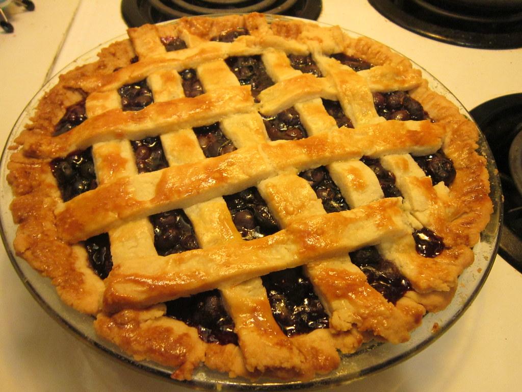 Blueberry pie | From Alton's recipe: www foodnetwork com/rec
