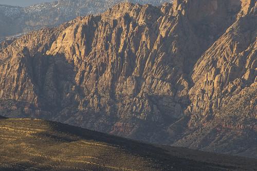 morning shadow red mountain rock sunrise sandstone rocks desert lasvegas nevada conservation mojave area hillside