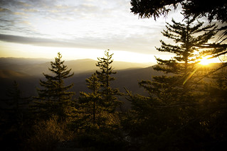 Sunset from our campsite over Mount Porte Crayon | by lifeinthedistrict