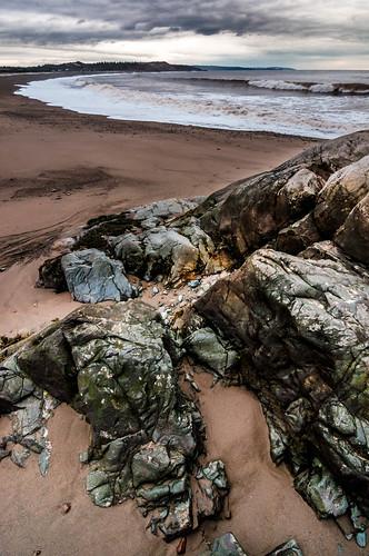 morning canada water rocks waves tide newbrunswick fundy irvingnaturepark