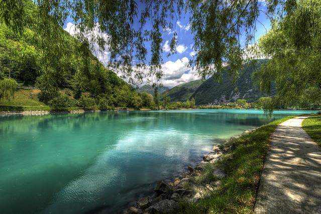 Lake view in Most na Soči - Slovenija