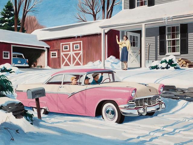 1956- Ford Fairlaine advertisement