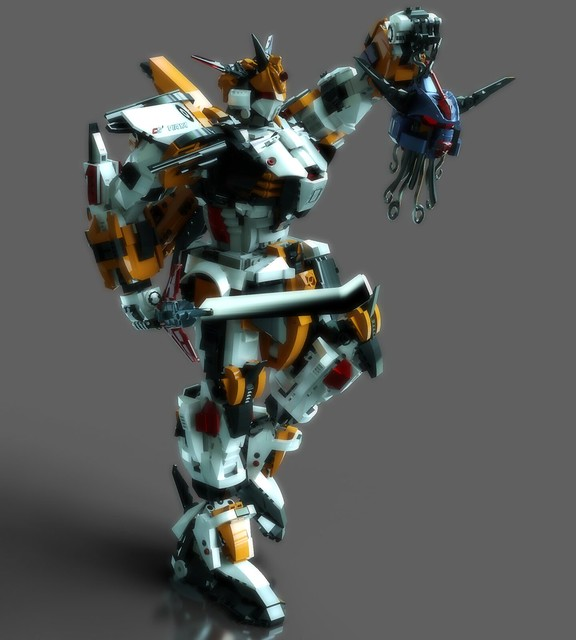 Gundam Chroma S1 Virya ( Lego Digital Designer & Simlab Composer 2015 )