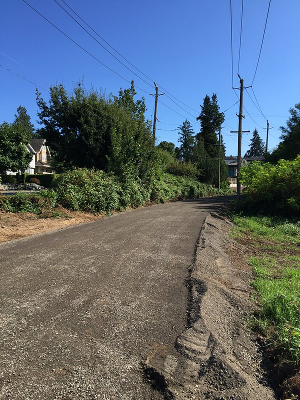 Rolled gravel greenway south of 33rd Ave