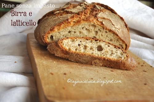 pane senza impasto birra e latticello - Gluten free  knead bread with beer and buttermilk | by mammadaia