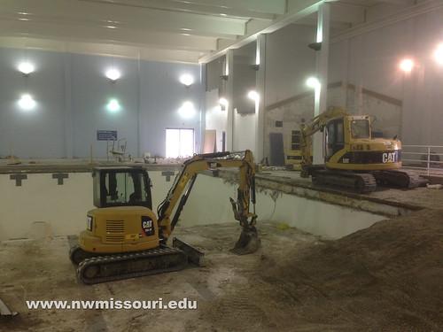 Foster Fitness Center construction | by Northwest Missouri State University