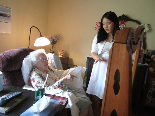 Explaining to Betty How the Harp Works