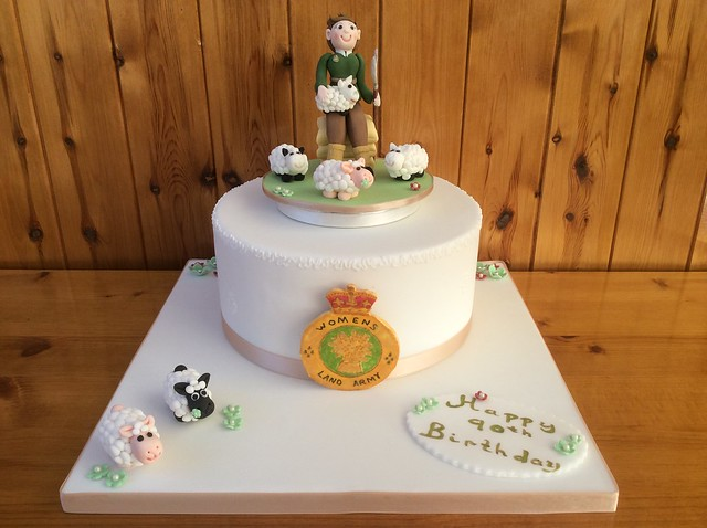 90th Birthday Cake for a Women's Land Army Lady