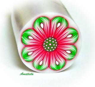 Murrina flor verde-rosa | by el rincón de amatista