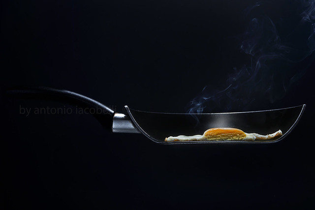 half an egg..