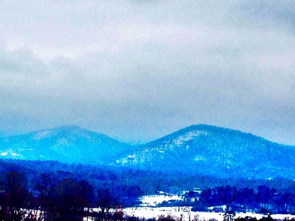 Snow Covered Blue Ridge Mountians C P Flickr