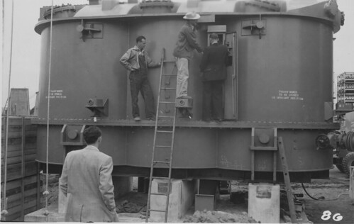 Duwamish Substation construction, 1955