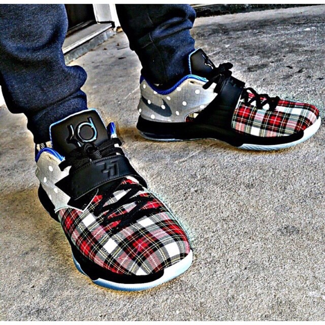 low priced ee9d5 03408 Plaid & Canvas Nike KD 7 EXT on feet @aleyva82 SneakerFile ...