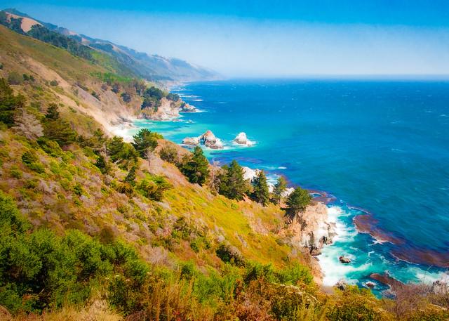 Big Sur Coastline - Textured