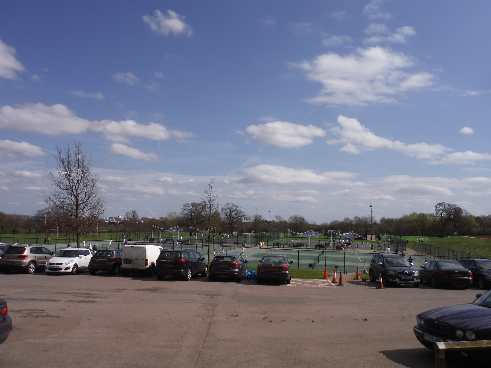 The contentious Tennis Courts, built over existing Right of Ways SWC Short Walk 40 - Harrow-on-the-Hill (South Kenton or Northwick Park to Harrow-on-the-Hill)