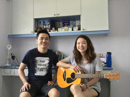 Adult guitar lessons Singapore Angeline Tan