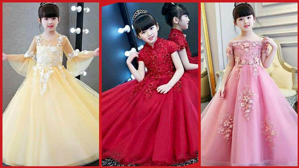 7240db71ddf5 ... Latest Baby Gown Dresses Buy Online//kids Princess Style Frocks//Kids  Party