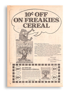 Vintage 70's Ralston Freakies Cereal Newspaper Ad Coupon