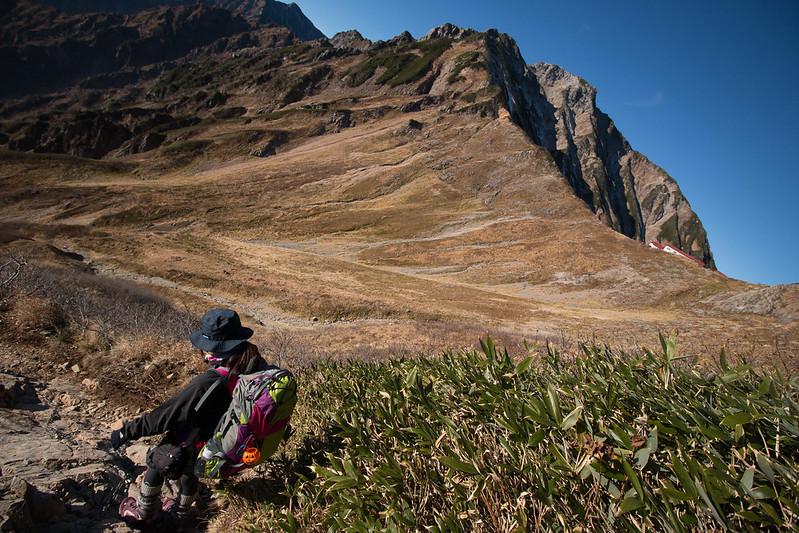 五竜岳から下山する