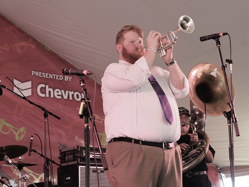 Doyle Cooper Jazz Band at Satchmo SummerFest - Aug. 4, 2018. Photo by Michele Goldfarb.