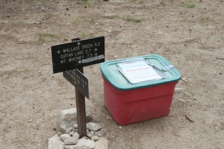 1094 I came across the plastic bin full of Wag Bags at the trail junction near the Crabtree Ranger Station | by _JFR_