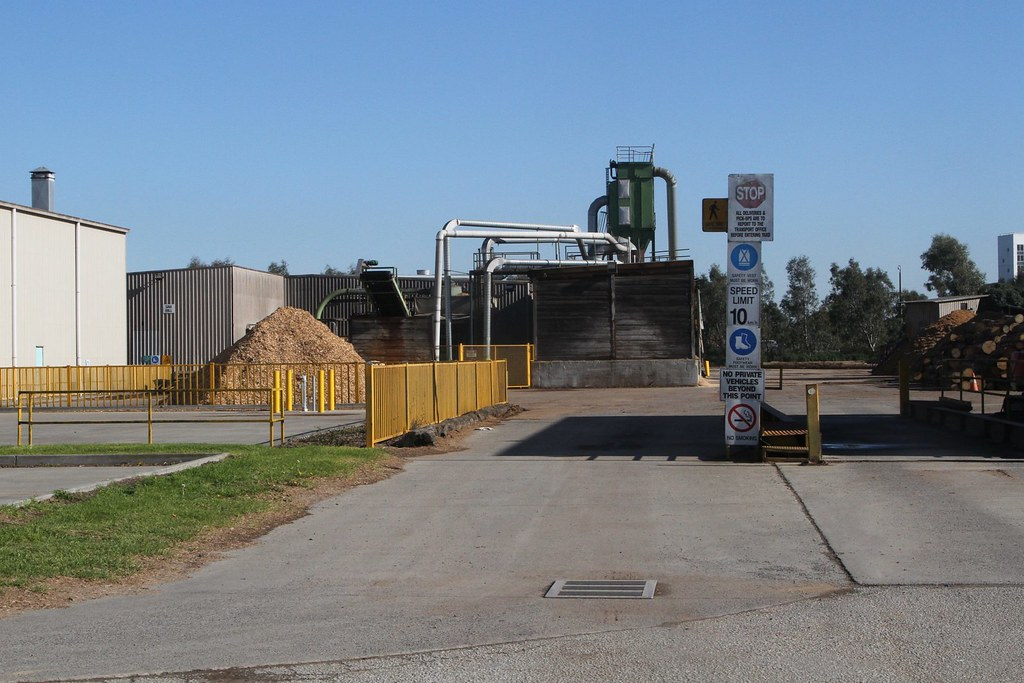 Weighbridge and sawmill at the Dormit Pty Ltd pallet facto