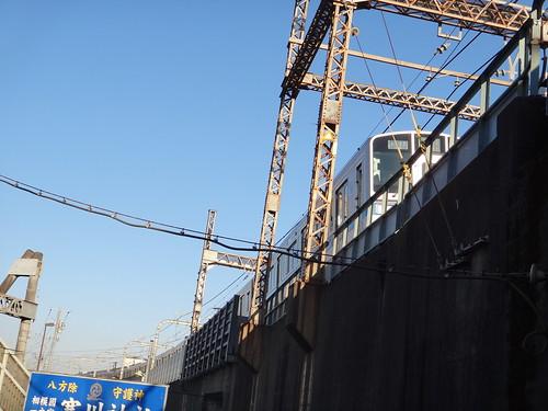 Odakyu line overcrossing, Asugi Sta.