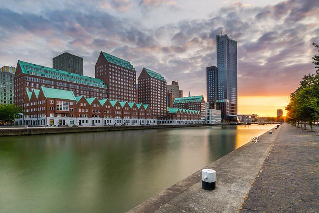 Sunset at Spoorweghaven Rotterdam