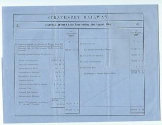 Strathspey Railway Accounts 1864 | by ian.dinmore