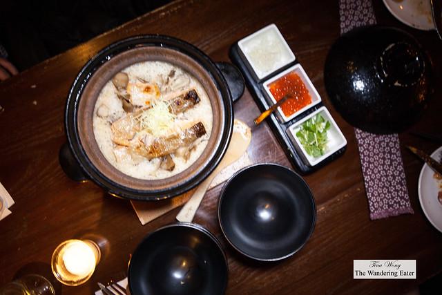 Ocean Trout Uonuma Koshihikari rice pot