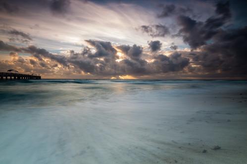 longexposure sky beach water clouds sunrise canon dawn pier unitedstates florida palmbeach 6d lakeworthpier fotodiox tse17 wonderpana