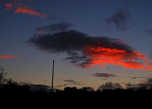 ireland sunset irish clouds cork redsky telegraphpole newmarket 76 hss htt canong11 ilobsterit telegraphtuesday topazglow 115picturesin2015