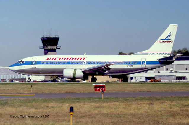 N397P - 1985 build Boeing B737-3Q8, once with Airways International Cymru as G-PROC