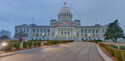 Arkansas State Capitol (Christmas Lights)