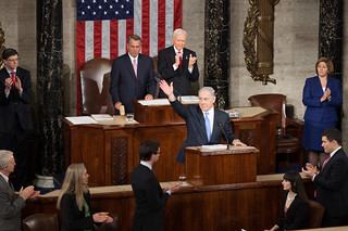Speaker John Boehner gavels the joint meeting of Congress to order as Prime Minister Benjamin Netanyahu expresses his appreciation for a warm welcome from those gathered in the Hall of the House. | by SpeakerBoehner