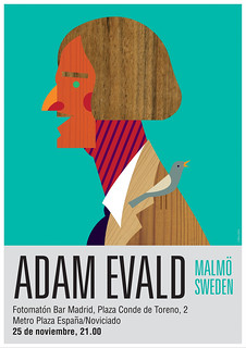 © Maria Zaikina | poster for Adam Evald / concert in Madrid