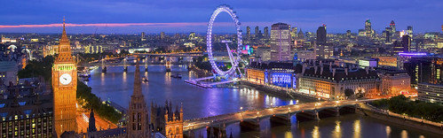 Panoramic view from Victoria Tower on Houses of Parliament and  London skyline at night, London, U.K. | by designer_nusrat