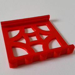 #3dprinted #Laundry #soap Handler/Dish in #red #pla . #3dprint your own from http://www.cgtrader.com/MorenaP or get it from https://www.etsy.com/ca/listing/207639359 #etsy #ultimaker #morenap3d #traditional #wash #3d # 3dprinting #decoration #bathroom #cl