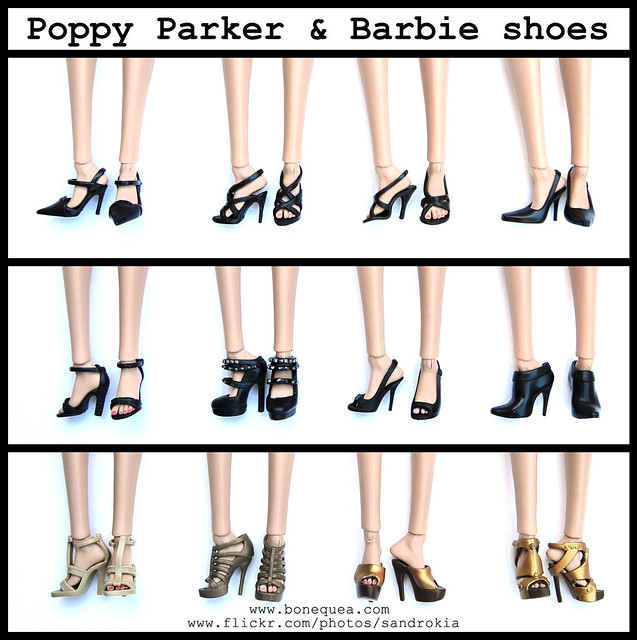 Poppy Parker & Barbie Shoes.