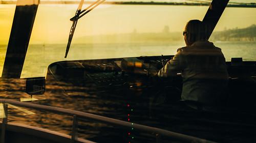 The Captain, Bosphorus, Istanbul 夕阳下的船长   by 小豪豪小豪豪