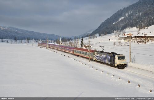 sky alps br zug austrian 185 bombardier lokomotion griessenpass 661traxx