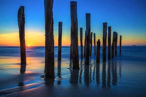 ocean sea newzealand beach sunrise pier sand stclair wharf dunedin