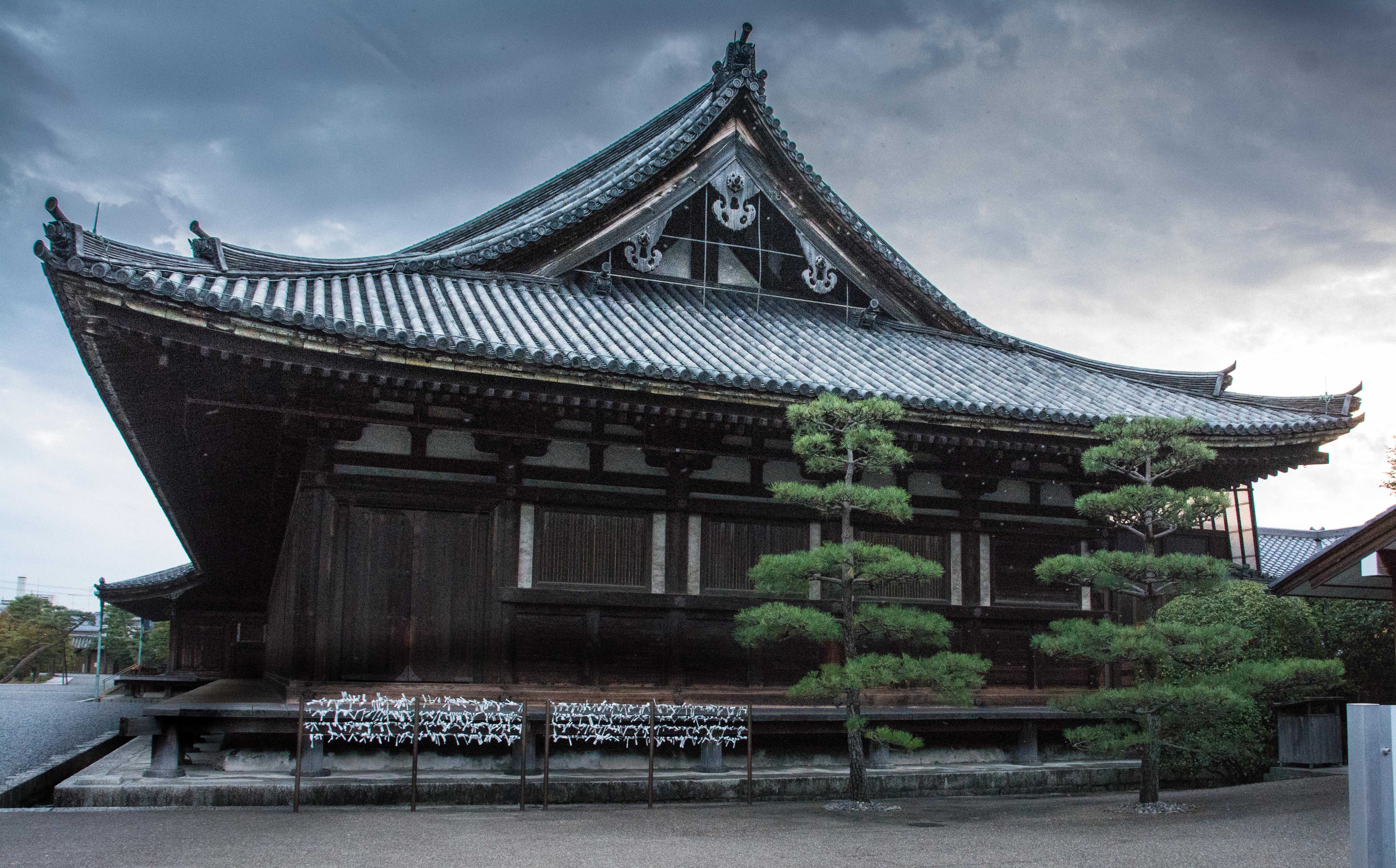 Tempel building in Kyoto