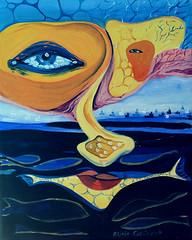 """""""SGUARDO GIALLO""""; oil on canvas, 40x50 cm"""